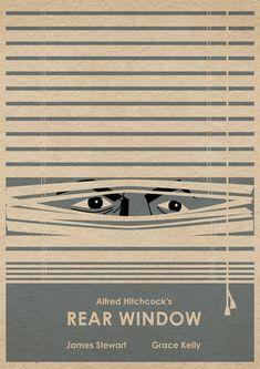 The Rear Window minimalist movie poster