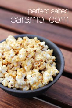 Perfect Salted Caramel Corn - In the Microwave! Easy to make, even easier to eat and perfect for feeding a crowd!
