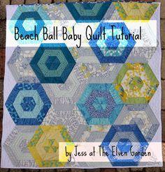 Moda Bake Shop: Beach Ball Baby Quilt  using Sphere by Zen Chic  @ModaFabrics baby quilts, babi quilt, quilt patterns, bake shop, jelly rolls, beach ball, ball babi, quilt tutorials, lap quilts