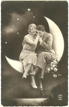 paper moon vintage postcards, vintage paper, weddings, paper moon, wedding photos, vintage romance, photo booths, papers, papermoon