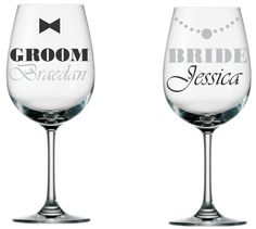 DIY wedding glass decal set