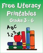 Free Literacy Printables for grades 3 - 6 from Laura Candler's online file cabinet