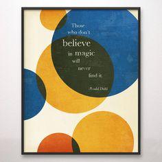 11x14 Magic Roald Dahl Art Print Circles. $24.00, via Etsy.
