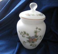 Vintage  White Bristol Glass  Handpainted