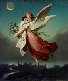 Guardian Angel by von kaulbach