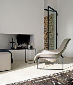 ! modern fireplaces, interior design, chair, glass doors, living rooms, modern living, design interiors, hous, modern interiors