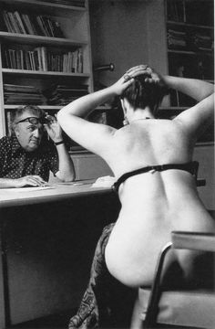 Federico Fellini casting actresses for the film 'Casanova'
