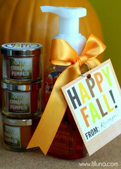 Easy Fall Gift Idea w/ free printable!