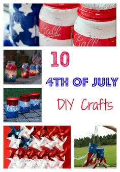 10 DIY 4th of July Crafts - OC Mom Blog | OC Mom Blog #crafts #4thofjuly