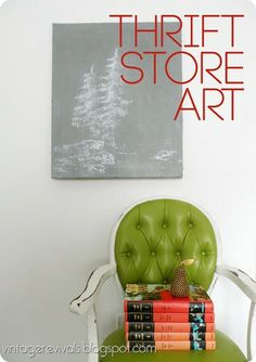 Home Art-Re-Do:  What would you do with 15 minutes and a junky piece of art from the thrift store?