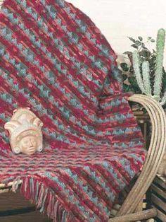 Free Indian Crochet Afghan Patterns | Crochet Pueblo Afghan Pattern - Online Crochet Instruction