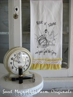 Rise n' Shine ... Ruffled Bathroom Hand Towel  ... by SweetMagnoliasFarm, ...15.00