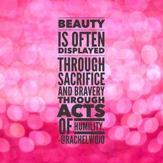 True beauty isn't only skin deep!
