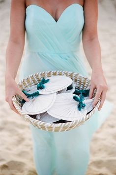 Fans for the Guests - Great for beach weddings!