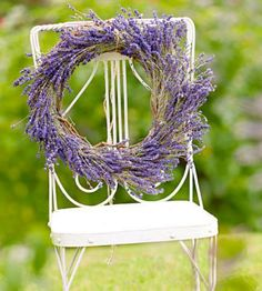How to make a lavender wreath: http://www.midwestliving.com/garden/flowers/tips-for-lavender-growing-cooking-and-decorating/page/2/0