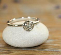 Bezel Set Diamond Engagement Ring 14k White Gold Solitaire Diamond Ring Wedding Bridal Ring  https://www.etsy.com/shop/LaMoreDesign?ref=l2-shopheader-name