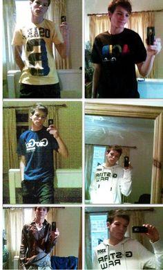 Greatest selfies of Louis Tomlinson
