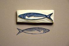 fish print, sardin stamp
