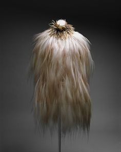 Yves Saint Laurent Bird of Paradise feather dress, 1969-70. Part of the Costume Institute Collection at the Metropolotan Museum of Art