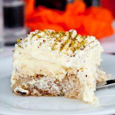 Ekmek Kataifi - a lovely Greek dessert chock full of nuts, honey, and creamy custard