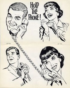1962 hold the phone Clip Art