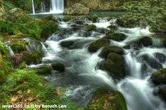 A gorgeous photograph of the Bania Springs in northern Israel