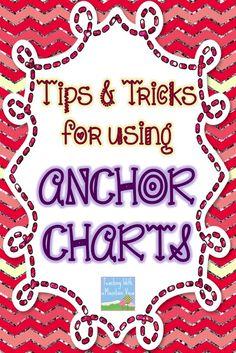 anchor charts, schoolanchor chart