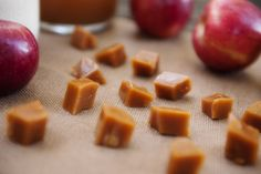 apple cider caramels  | www.prettyplainjanes.com #Gifts #WerthersCaramel #Caramel