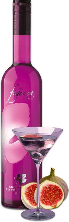 """""""Figenza Mediterranean Fig Flavored Vodka"""" -- Click through for """"Drink of the month"""" recipes and more information. Sounds delish and Gail Simmons (of """"Top Chef"""") gave it a rave review. bar stock, bottl, cocktail recipes, mediterranean fig, fig vodka, delici vodka, infused vodka, drink recipes, vodka drinks"""
