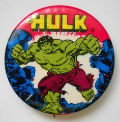 Vintage The Incredible Hulk Pinback Button 1975   eBay