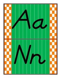 Best Practices 4 Teaching--This file contains 13 pages of the alphabet done on a green background with the checkerboard touchdown zone and complete with white yard lines.  Le...