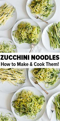 "Zucchini noodles ""zoodles"" are healthy and perfect for gluten-free, vegetarian, vegan, keto and paleo recipes. Learn how to make and cook zucchini noodles - it's so easy! #zucchininoodles #howtomakezucchininoodles #zucchinirecipes #zoodles"