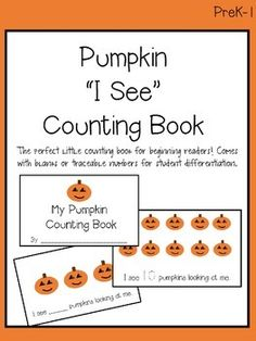 "Pumpkin ""I See"" Counting Book"