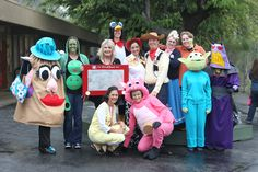The characters from Toy Story!
