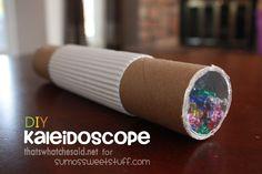 DIY Kaleidoscope Craft, taking me back to my childhood!