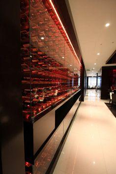 Wine display wall