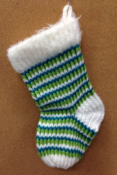 Loom knit Christmas stocking