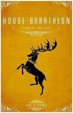 House Baratheon -  Alternative and minimalist poster - Game of Thrones - By Thomas Gateley, http://www.flickr.com/photos/liquidsouldesign/  Visit: http://spotseriestv.blogspot.com