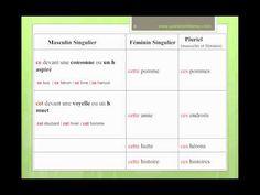 Adjectifs Démonstratifs FLE