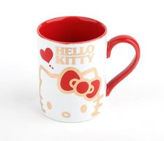 Hello Kitty 9oz Ceramic Mug: Red Gold