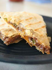 Taco Quesadilla Recipe   Tex-Mex Burger Quesadillas Recipe