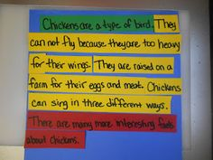 Stoplight paragraphs: neat idea for writing a paragraph. Green is main idea, yellow is supporting details, and red is the closing.