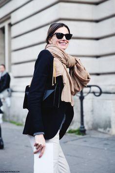 scarf x blazer