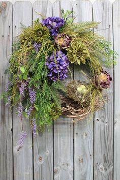 wildflower door wreath