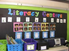 literacy centers - love display the groups this way!