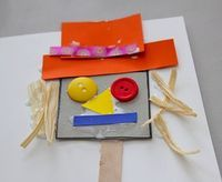 Paper and Button Scarecrow Craft - Things to Make and Do, Crafts and Activities for Kids - The Crafty Crow