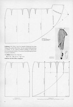 DIY 1950's Skirt - FREE Vintage Sewing Draft Pattern
