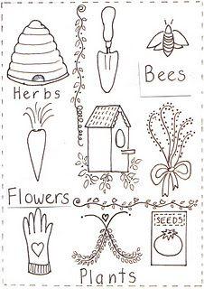 free stitchery patterns - Inspiration