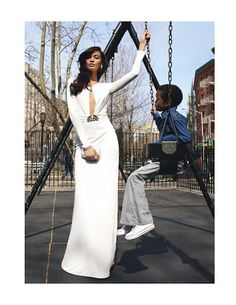 Joan Smalls for Vogue Paris, May 2012.  Joan is giving me LIFE in this beautiful gown.