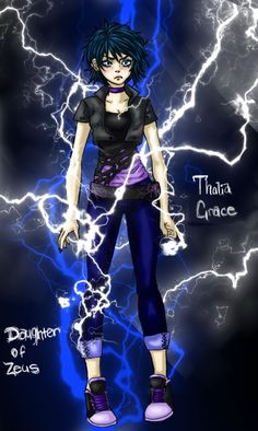 Thalia grace daughter of Zeus (lightning version) by Amigo12 on deviantART